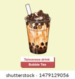 the bubble milk tea with ice... | Shutterstock .eps vector #1479129056