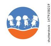 kids silhouette logo design...   Shutterstock .eps vector #1479158219