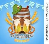 oktoberfest beer party.... | Shutterstock .eps vector #1479189410