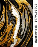 Small photo of Agate Crystal. Golden swirl, artistic design. The revival of Oriental Ancient art. Suminagashi – the ancient art of Japanese marbling. Masterpiece of designing art, exotic paper texture.