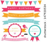 birthday vector design elements | Shutterstock .eps vector #147920534
