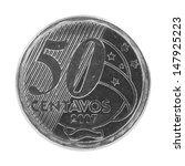 50 Brazilian Real Centavos Coin ...
