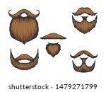 beard and moustache color...   Shutterstock .eps vector #1479271799