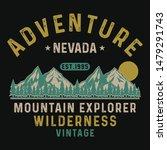mountain explorer  wilderness ... | Shutterstock .eps vector #1479291743