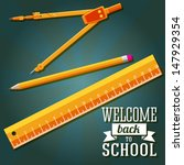 welcome back to school greeting ... | Shutterstock .eps vector #147929354
