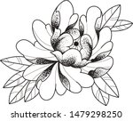 flower tattoo ink japanese... | Shutterstock .eps vector #1479298250