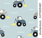 seamless pattern with excavator.... | Shutterstock .eps vector #1479305489