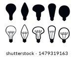 black silhouette set of flat...   Shutterstock .eps vector #1479319163