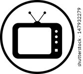 tv vector icon  | Shutterstock .eps vector #147932279