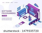 software development isometric...