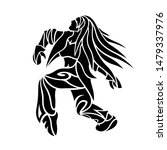beautiful black tattoo...   Shutterstock .eps vector #1479337976
