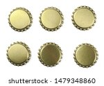 set new golden bottle cap for... | Shutterstock . vector #1479348860