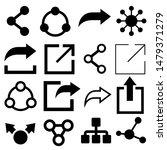 share icons vector. media... | Shutterstock .eps vector #1479371279