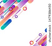 colorful shape abstract vector... | Shutterstock .eps vector #1479386450