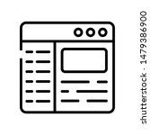 web template icon isolated on...