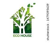tree inside of green house ...   Shutterstock .eps vector #1479395639