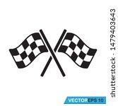 racing flag icon vector design ... | Shutterstock .eps vector #1479403643