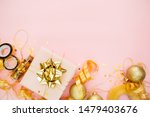 gift box with golden bow on...   Shutterstock . vector #1479403676