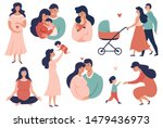 happy young family set.... | Shutterstock .eps vector #1479436973
