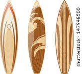 wooden surfboards isolated on...   Shutterstock .eps vector #147948500