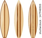 wooden surfboards isolated on... | Shutterstock .eps vector #147948503