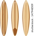 wooden surfboards isolated on... | Shutterstock .eps vector #147948509