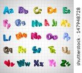 alphabet set   isolated on... | Shutterstock .eps vector #147948728