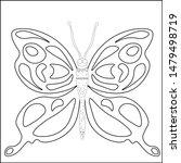 butterfly silhouette drawn in...   Shutterstock .eps vector #1479498719