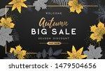 autumn big sale typography... | Shutterstock .eps vector #1479504656