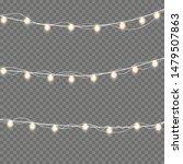 christmas lights isolated... | Shutterstock .eps vector #1479507863