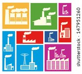factory icons over colorful... | Shutterstock .eps vector #147951260