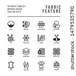 fabric feature thin line icons... | Shutterstock .eps vector #1479535790