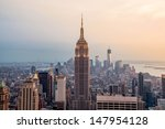 new york city skyline with... | Shutterstock . vector #147954128
