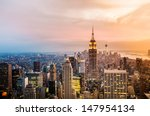 new york city skyline with