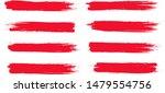 brush stroke set isolated on... | Shutterstock .eps vector #1479554756