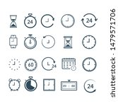 clock icon set isolated. time...