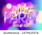 girl's party invitation card ... | Shutterstock .eps vector #1479625376