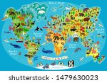 animal map of the world for... | Shutterstock .eps vector #1479630023