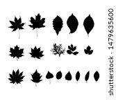 leaves silhouette set.  floral...   Shutterstock .eps vector #1479635600