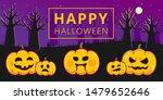 halloween banner. pumpkins with ... | Shutterstock .eps vector #1479652646
