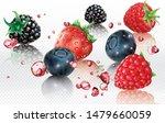 berries mix into splashes of... | Shutterstock .eps vector #1479660059