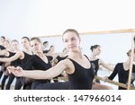 Row Of Female Ballet Dancers...