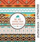 hipster seamless tribal pattern ... | Shutterstock .eps vector #147966500