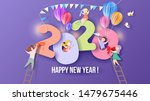 2020 new year design card with...   Shutterstock .eps vector #1479675446