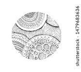 hand drawn grunge texture.... | Shutterstock .eps vector #1479683636