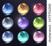 vector set of sparkling crystal ... | Shutterstock .eps vector #1479701000