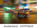 tuk tuk in motion blur  bangkok ... | Shutterstock . vector #147970610