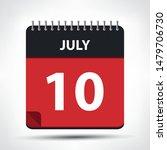 july 10   calendar icon  ... | Shutterstock .eps vector #1479706730