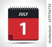 july 1   calendar icon  ... | Shutterstock .eps vector #1479706733