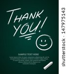 thank you message on blackboard ... | Shutterstock .eps vector #147975143